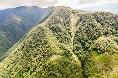 Stock Photo of High Altitude Helicopter Shot Over Llanganates National Park Tungurahua Province