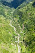 Rio Blanco River Exiting Llanganates National Park Tungurahua Province Ecuador - stock photo