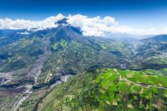 Stock Photo of Tungurahua Volcano Eruption 28 11 2010 Ecuador South America 2Am Local Time