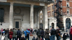 Street Entertainer - Covent Garden - London, England - stock footage