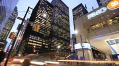 Toronto Financial District King and Bay Time Lapse Stock Footage