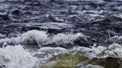 Slow motion water in river rapids - stock footage