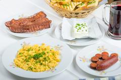 A hearty breakfast Stock Photos
