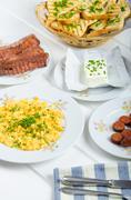 a hearty breakfast - stock photo
