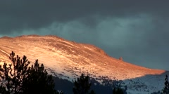 Time lapse of scenic mountain view of Devil's Thumb near Winter Park Colorado Stock Footage