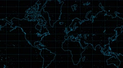 Earth Map Background  08 Stock Footage