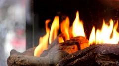 Christmas fireplace - stock footage
