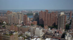 Cityscape NYC red brick towers - stock footage