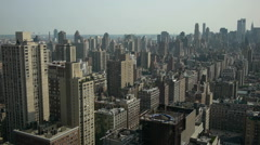 Cityscape NYC (Gotham City) roof view Stock Footage
