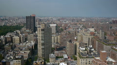 New York City rooftop panorama view - stock footage
