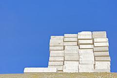 Lightweight concrete block Stock Photos