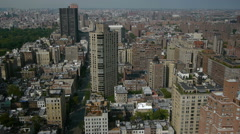 Stock Video Footage of New York City rooftop view