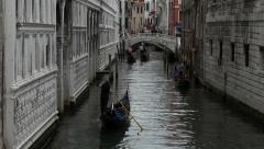Venice Italy romance Canal Gondola rides 4K 021 Stock Footage