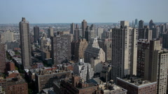 Panorama cityscape NYC with pan - stock footage