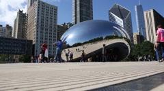Chicago Bean Ground Level Stock Footage