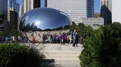 Chicago Bean hidden camera Stock Footage