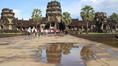 Angkor Wat Entrance Stock Footage