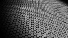Hexa space monochrome Stock Footage