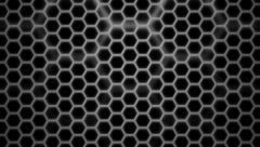 Monochrome hexa grid Stock Footage