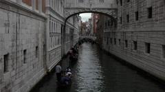 Venice Italy romantic Canal Gondola rides 4K 020 Stock Footage
