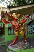 Thai red fine art in fantasy animalstatue Stock Photos