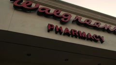 Walgreens pharmacy/drug store Stock Footage