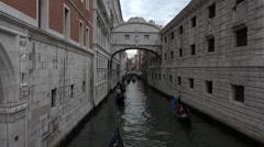 Venice Italy tourism Canal Gondola rides 4K 019 Stock Footage