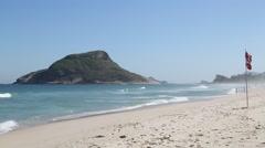 Recreio dos Bandeirantes Beach - Rio de Janeiro - Brazil Stock Footage