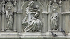 Siena Italy historic Piazza del Campo Fonte Gaia 4K 021 Stock Footage
