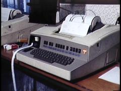 Police Data Machine or Telex Machine (Archive Footage) - stock footage