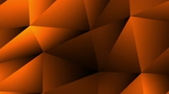 Low Poly Orange Motion Background Stock Footage