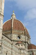 Duomo basilica cathedral church from giotto's bell tower florence italy Stock Photos