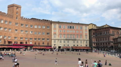 Siena Italy historic Piazza del Campo square 4K 019 - stock footage