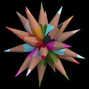 20 Color Pencils - stock illustration