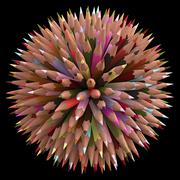 200 Color Pencils - stock illustration