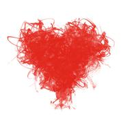 Stock Illustration of sketchy heart of red brush strokes
