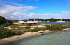 Seaport on Cayo Guillermo. Stock Photos