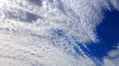 Bright clouds. Clouds blurred Stock Footage