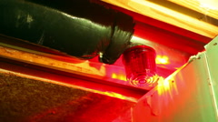 Indoor siren light warning system bunker 2 Stock Footage