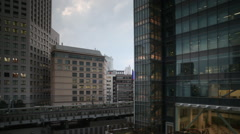 Tokyo japan city future skyscrapers train monorail travel Arkistovideo