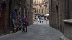 Siena Italy historic road alley shop 4K 011 Stock Footage