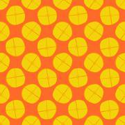 Lemon seamless pattern - vector fruit texture - stock illustration
