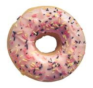 Isolated pastel pink donut Stock Photos