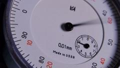 Precision measuring instrument. Dolly shot. Close up - stock footage