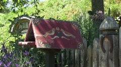 Hobbiton post box Stock Footage