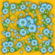 Abstract floral background with spring ornament Stock Illustration