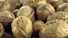 Seamless loopable rotating walnuts Stock Footage