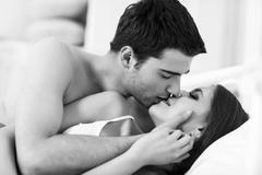 Young passionate couple Stock Photos