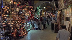 Istanbul Turkey Grand Bazaar shoppers market 4K 072 Stock Footage
