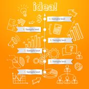 Process of idea generation, business illustration, vector Stock Illustration